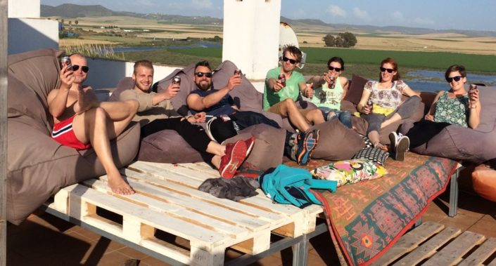Surfhaus Chillen Dachterrasse , Surfcamp-Spain