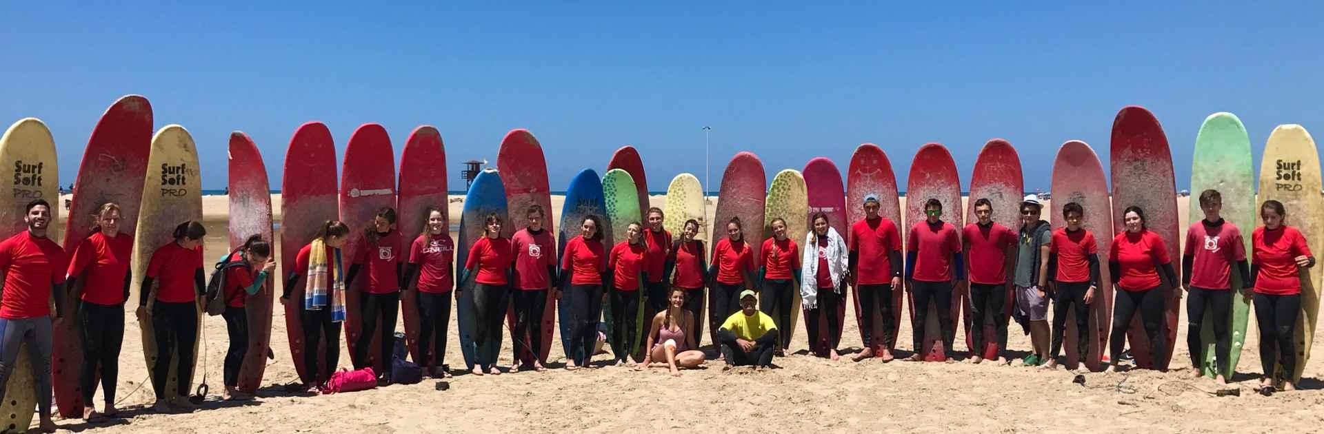 Surfkurs ,Cadiz, Andalusien, Conil, El Palmar