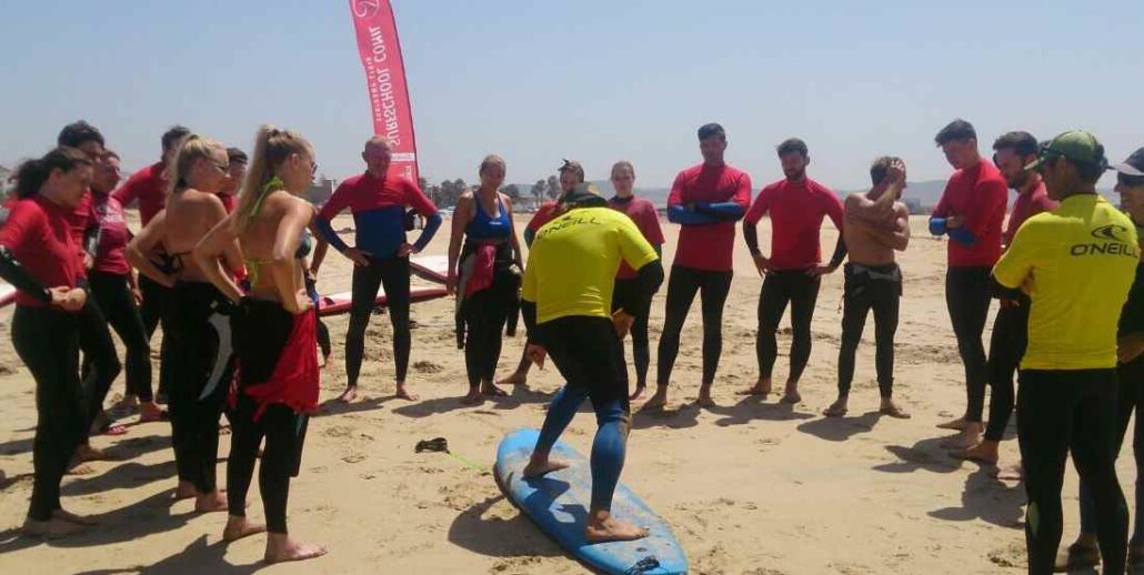 Surfkurs in Conil Cadiz El Palmar Andalusien Spanien