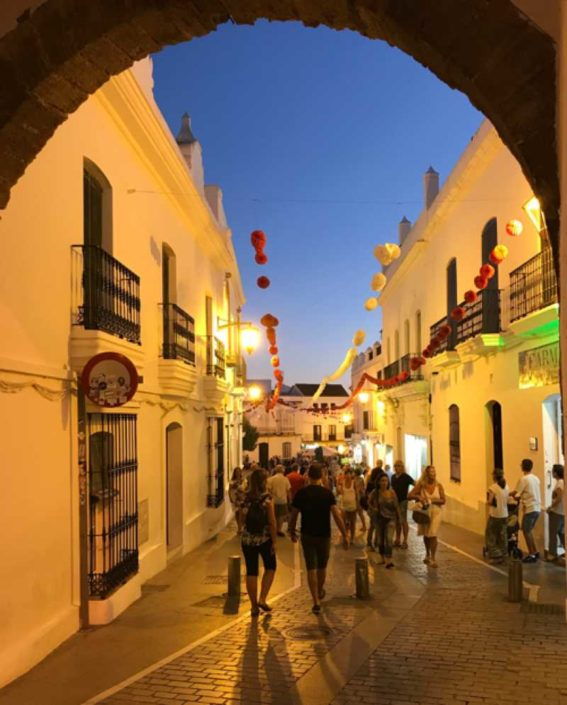 Conil del la frontera, Cadiz, Andalusien Altstadt