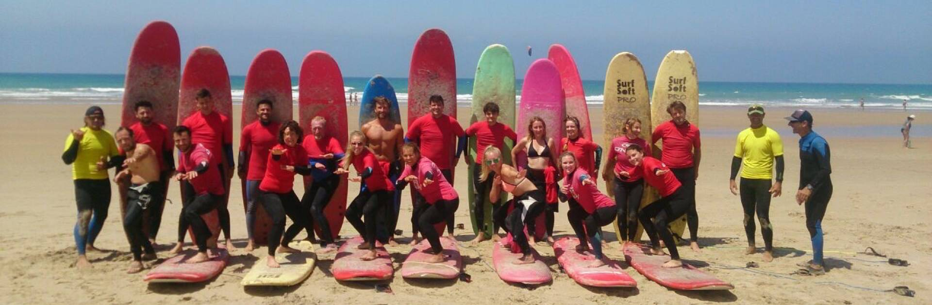 Surfing lessons at the Surf Camp Spain, Andalusia, Cadiz