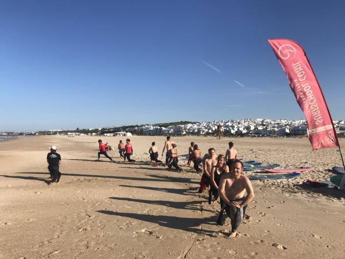 Surfen Ostern Andalusien El Palmar Conil