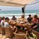 Beach Bar Conil nach dem Wellenreiten