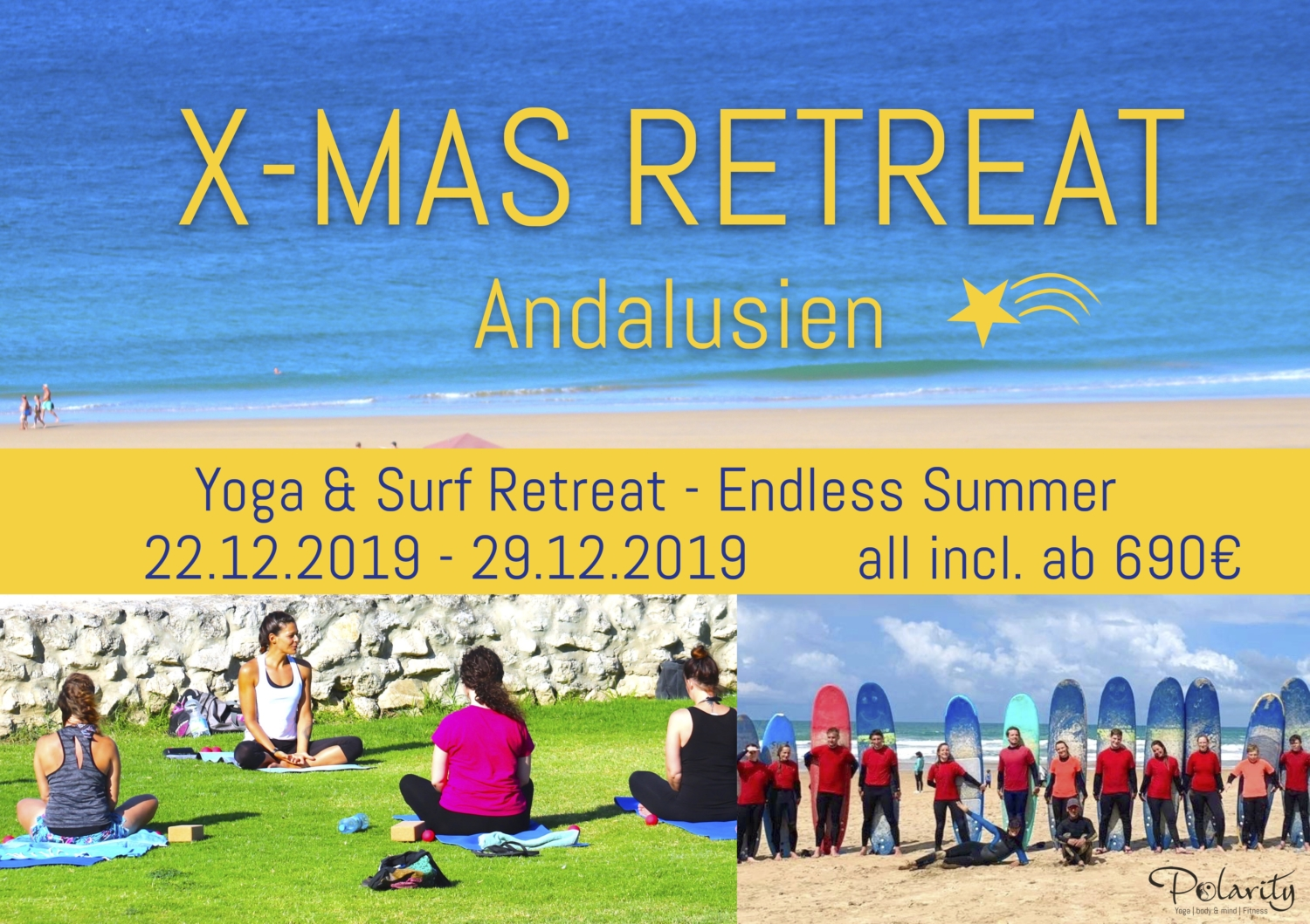 Weihnachten RETREAT Surfcamp Andalusien