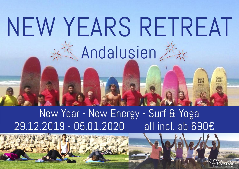 Silvester Neujahr Surfcamp Spanien