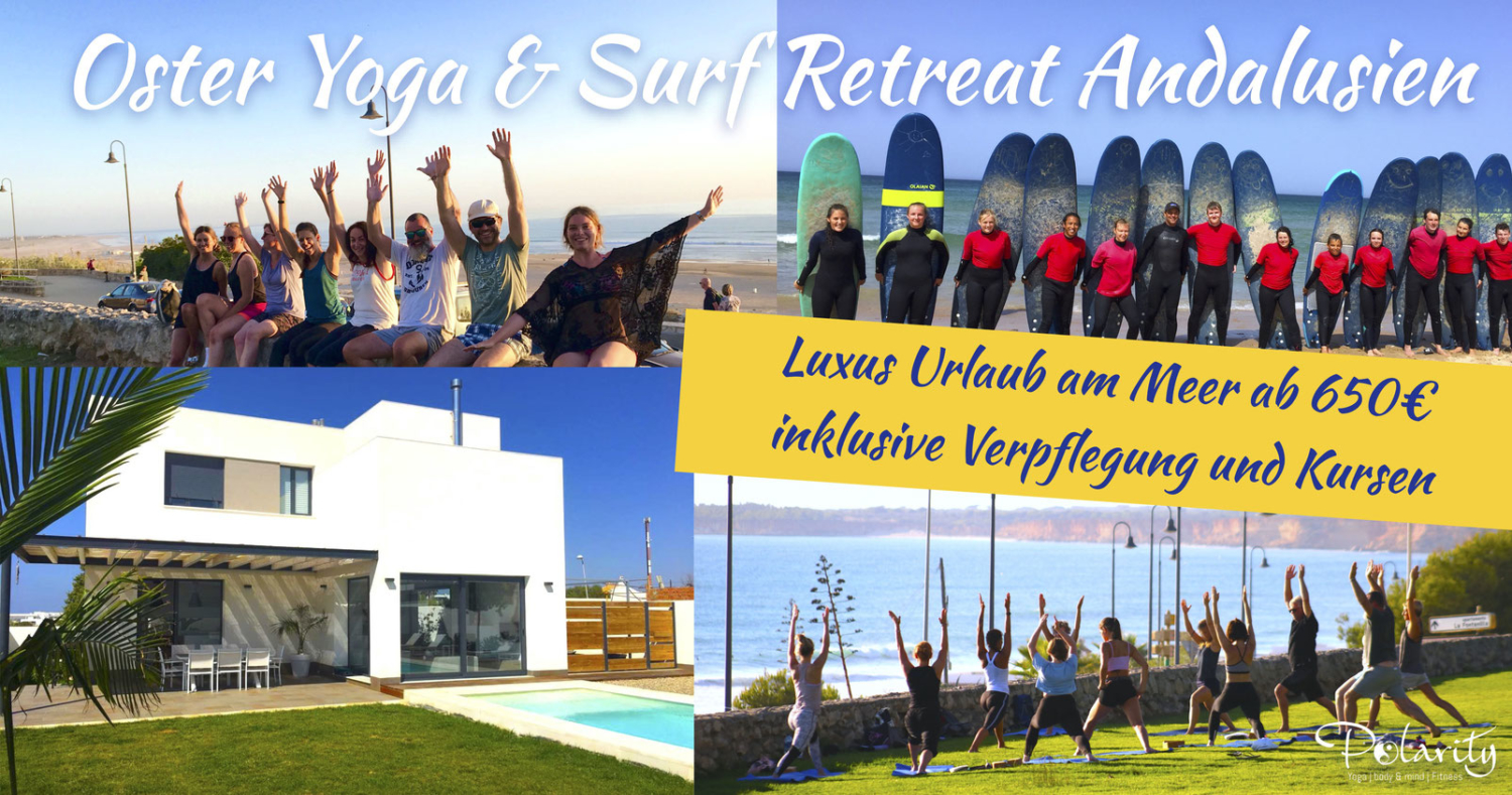 Ostern, Surfcamp, yoga, retreat, Spanien